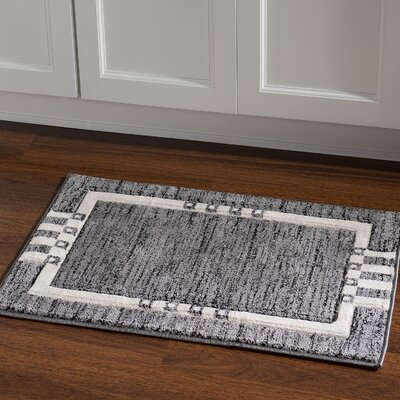 Carina Grey/Black Area Rug Rug Size: Rectangle 110 x 210