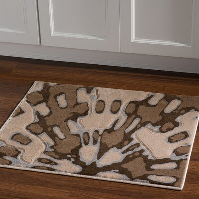 Carina Ivory/Brown Area Rug Rug Size: Rectangle 110 x 210