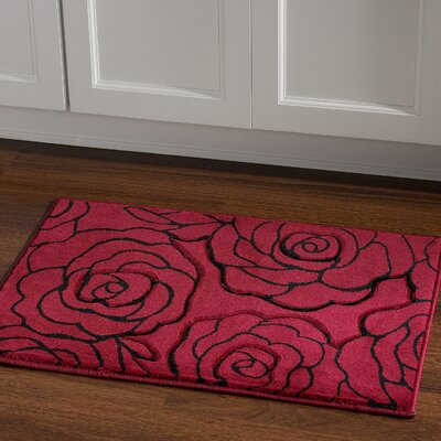 Carina Red/Black Area Rug Rug Size: Rectangle 110 x 210