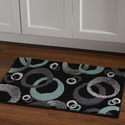Carina Black/Seaglass Area Rug Rug Size: Rectangle 110 x 210