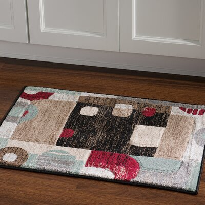 Carina Sand/Black Area Rug Rug Size: Rectangle 110 x 210