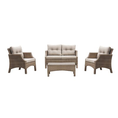 Keas Ridge 4 Piece Deep Seating Group with Cushion