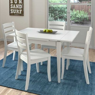 Liggett 5 Piece Cream Frame Dining Set Finish: White