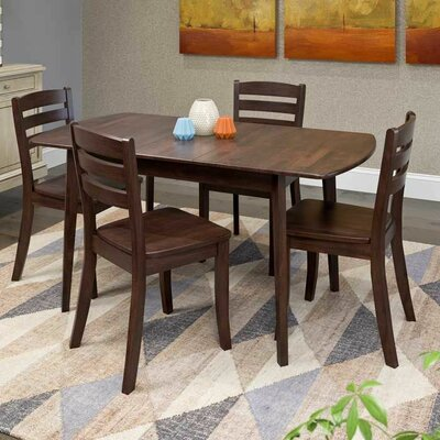Wallace 5 Piece Wood Dining Set Finish: Cappuccino