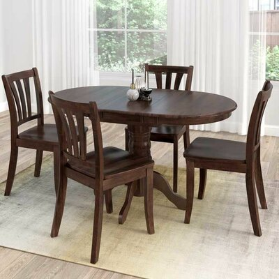 Wallace 5 Piece Dining Set Finish: Cappuccino