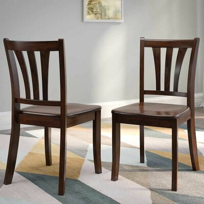 Liggett Modern Solid Wood Dining Chair Finish: Cappuccino
