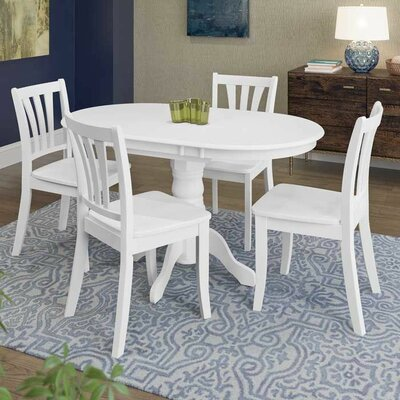 Wallace 5 Piece Dining Set Finish: White