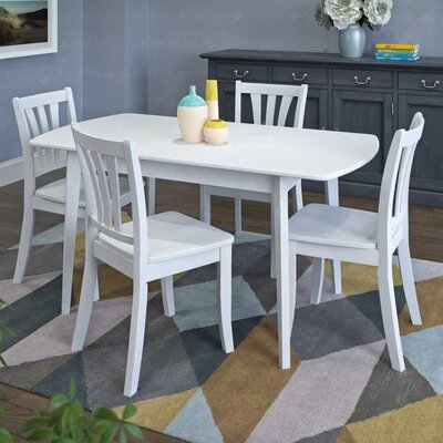 Liggett 5 Piece Extendable Dining Set Finish: White