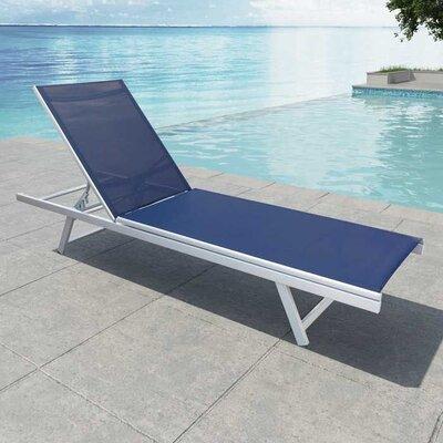 Orangeville Reclining Chaise Lounge Finish: Blue