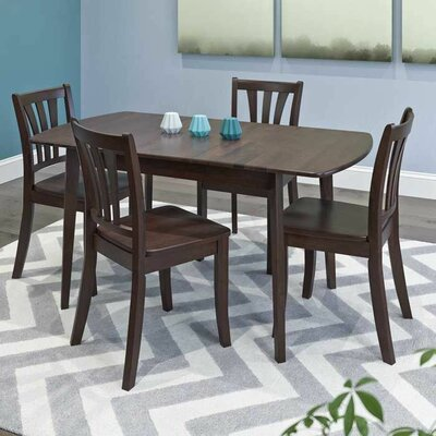 Liggett 5 Piece Extendable Dining Set Finish: Cappuccino