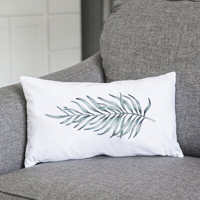 Joellen Palm Leaf Lumbar Pillow