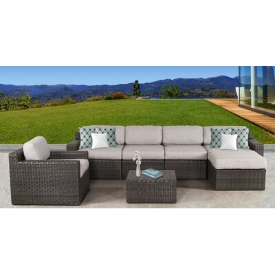 Arcole 7 Piece Deep Seating Group with Cushion