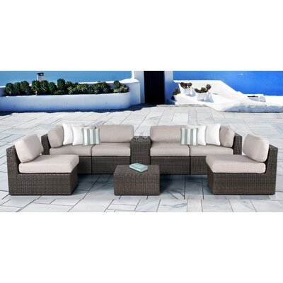 Arcole 8 Piece Deep Seating Group with Cushion