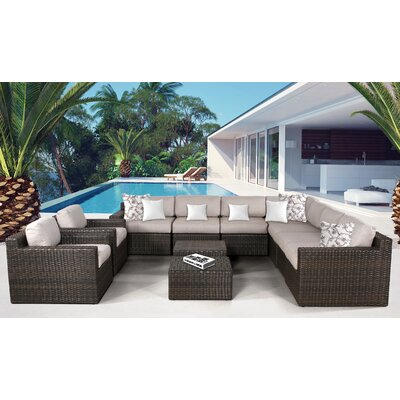 Arcole 11 Piece Deep Seating Group with Cushion