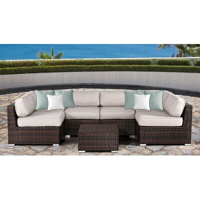 Archie 7 Piece Deep Seating Group with Cushion