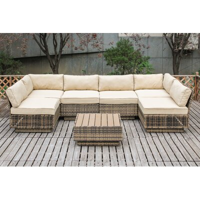 Alaia 7 Piece Sectional Seating Group with Cushion