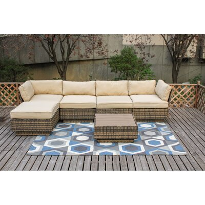 Alani 6 Piece Sectional Seating Group with Cushion