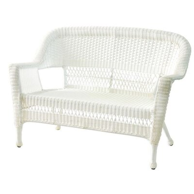 Benji Wicker Patio Loveseat Finish: White