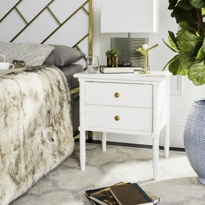 Aylin 2 Drawer Nightstand Finish: White