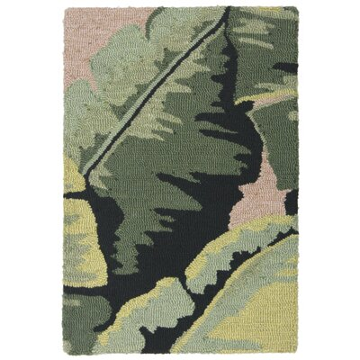 Arida Palm Hand-Tufted Green Indoor/Outdoor Area Rug Rug Size: 2 x 3