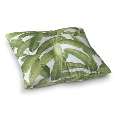 Pallavi Banana Leaves Square Floor Pillow Size: 23 H x 23 W x 9.5 D