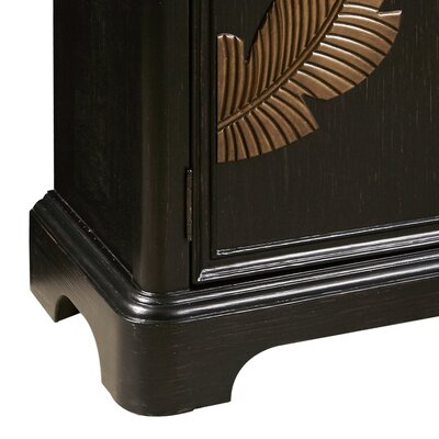 Damann Modern Bar Cabinet with a Leaf Carving