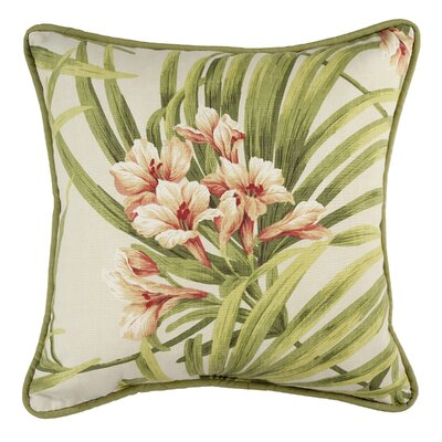 Revathi Floral Cotton Throw Pillow Color: Cream/Green/Orange
