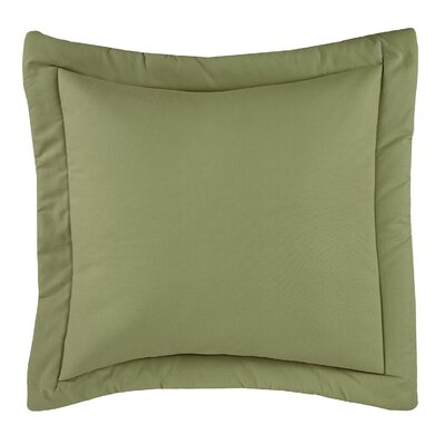 Revathi Euro Sham Color: Green, Size: 26 H x 26 W x 2.5 D