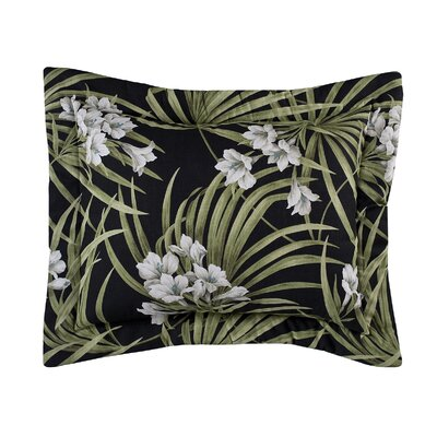 Revathi Sham Size: 20 H x 36 W x 2.5 D, Color: Black/Green