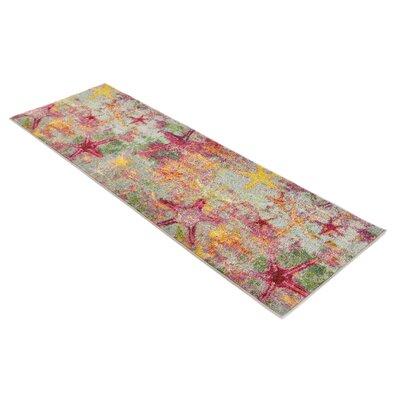 Ethel� Beige/Pink Area Rug Rug Size: Runner 27 x 10