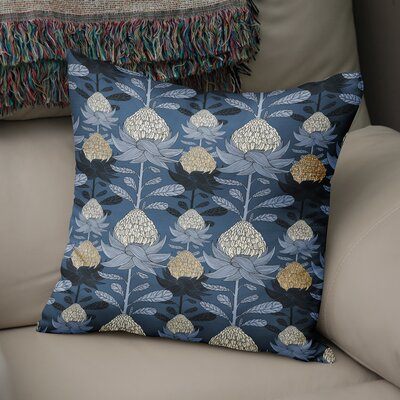 Elicia Blossom Throw Pillow Size: 18 H x 18 W x 5 D