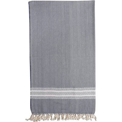 Eastfield Bath Towel Color: Blue/Cream