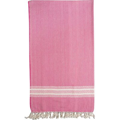 Eastfield Bath Towel Color: Pink/Cream