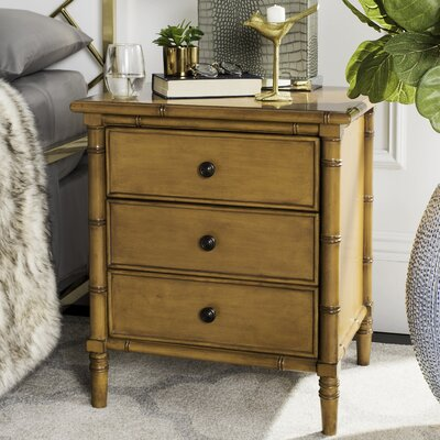 Aylin 3 Drawer Nightstand Color: Brown