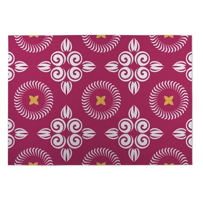 Anchoretta Scrolled Floral Doormat