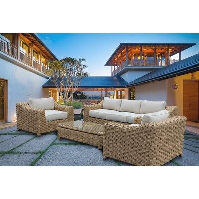 Rattan Sunbrella Sectional Set Cushions 10937 Item Image