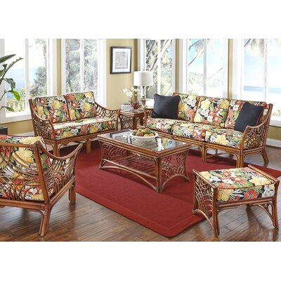 Rainey 6 Piece Living Room Set Upholstery: Clemens Noir Red
