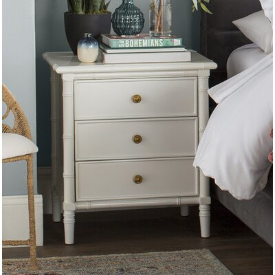 Aylin 3 Drawer Nightstand Color: White