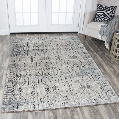 Astley Taupe Area Rug Rug Size: Rectangle 53 x 76