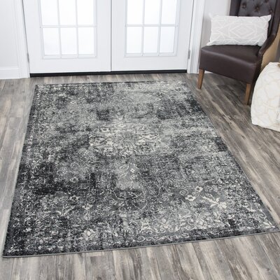 Patria Gray Area Rug Rug Size: Rectangle 53 x 76