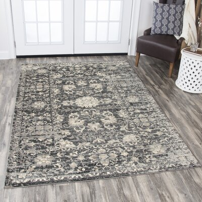 Burleigh Gray Area Rug Rug Size: Rectangle 33 x 53