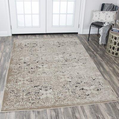 Ashmoore Beige Area Rug Rug Size: Rectangle 67 x 96