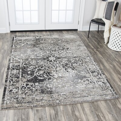 Marina Taupe Area Rug Rug Size: Rectangle 53 x 76