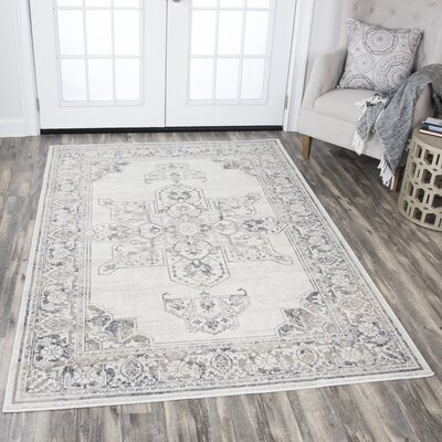Aster Natural Area Rug Rug Size: 33 x 53