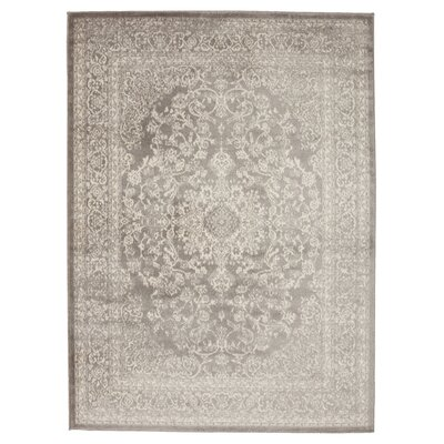 Zander Medallion Gray/Ivory Area Rug Rug Size: 710 x 910