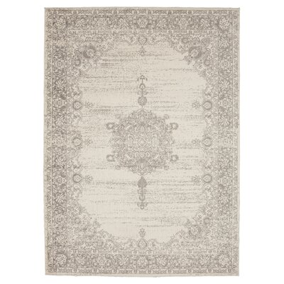 Zander Medallion Ivory/Gray Indoor Area Rug Rug Size: 710 x 910