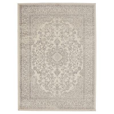 Zander Medallion Ivory/Gray Area Rug Rug Size: 710 x 910