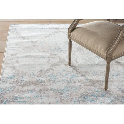 Felicia�Gray Area Rug Rug Size: Rectangle 5 x 76