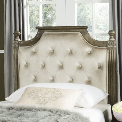 Binne Upholstered Panel Headboard Size: Full, Color: Beige