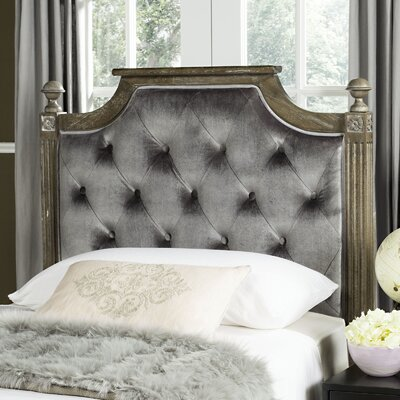 Binne Upholstered Panel Headboard Color: Grey, Size: Full